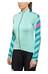 PEARL iZUMi ELITE Pursuit Thermal Jersey Women Aqua Mint Stripe